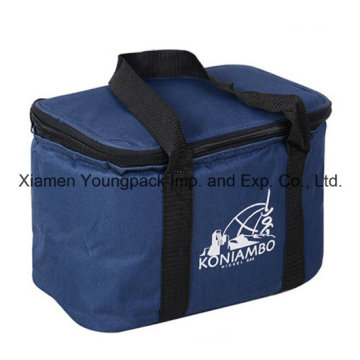 Custom Navy Blue 600d Oxford Cloth Thermal Insulated Cooler Bag for Frozen Food