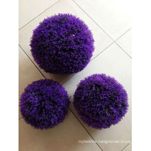 Artificial grass ball home and outside decoration purple color