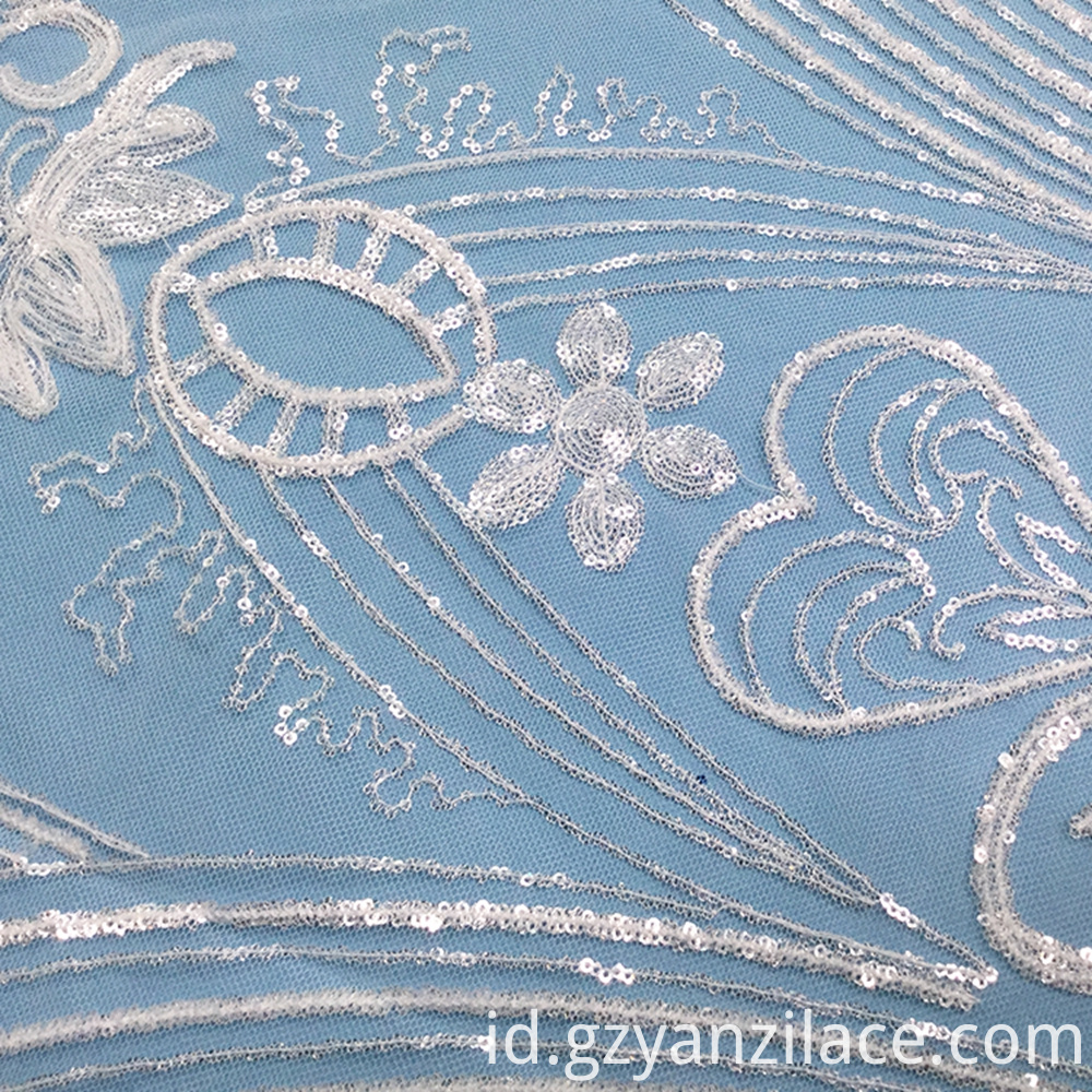 Clear Sequin Lace