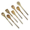 Nonstick 7PCS Acacia Wood Handle Köksredskap Set