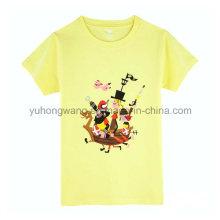 Печатная футболка с горячим проданым хлопка