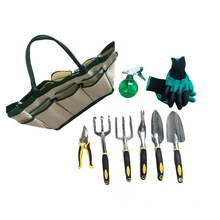 Garden Tool Set With Tote And Folding Seat for 9 piece tool set multifunctional garden shovel kit