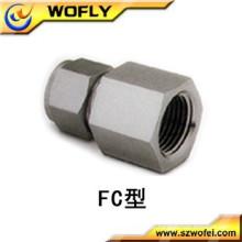 """Aço inoxidável 316 3/8 """"fêmea npt x 1/4"""" tubo"""