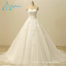 Sweetheart Bandage Tulle Lace Appliques Western Wedding dress Patterns