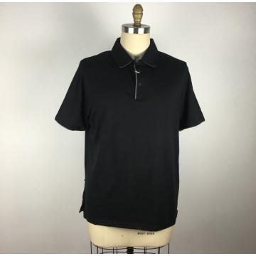 Black men's Polo shirts Office leisure shirts