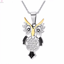 High Quality Stainless Steel Owl Pendant Necklace Jewelry