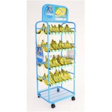 Flooring Display Rack Metal Stand Commercial Shelving Supermarket Vegetable And Fruit Display Rack