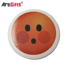 Custom metal round pin button