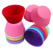 Heart-shaped flower-shaped silicone cake lined with silicone baking cup non-stick easy to clean pastry muffin mold