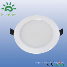 Hot sale haute qualité blanc mince down lumière 100-240v 4 pouces smd5730 conduit faux plafonniers 9w
