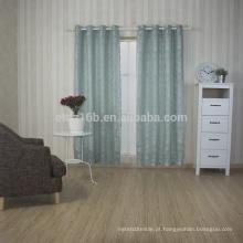 Nova chegada 100% poliéster pouco flor design bordado janela cortina