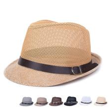 Мужчины Женщины Мода Летняя льняная соломенная ведро Hat (YKY3238)