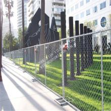 Оцинкованный портативный временный металлический забор из ячеистой сети