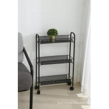 3 mesh tier kitchen cart