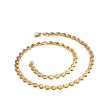 High Quality men fashion design simple gold chain necklace