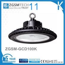Ronda UFO forma industrial 100W LED alta luz de la bahía