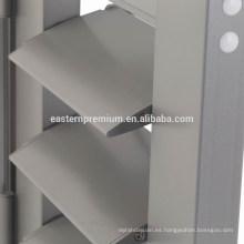 Cheap 89mm Exterior Aluminum Louver Plantation Door Shutters