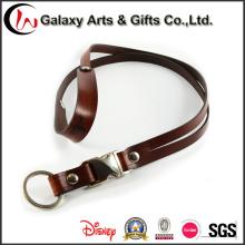 Alça de pescoço negócio couro clara ID cartão titular / nome distintivo titular corda com gancho de Metal