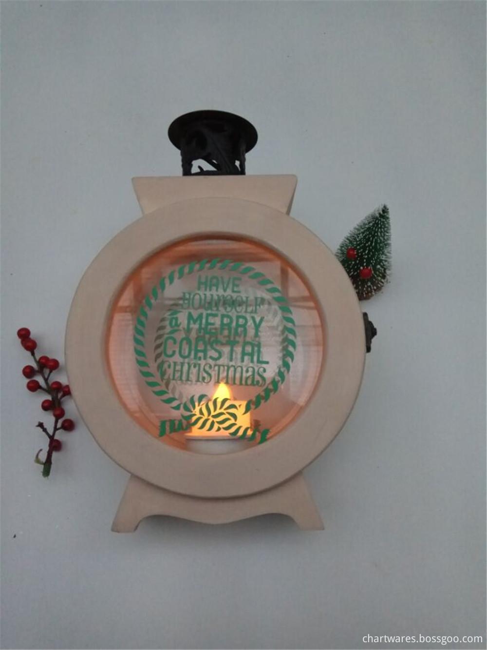unique wooden candle holder