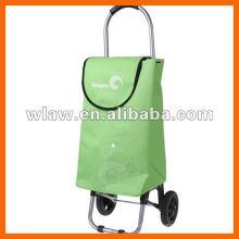 Carrinho de compras dobrável de alumínio com rodas