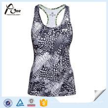 Sportbekleidung OEM Dry Fit Womens Printed Running Singlets