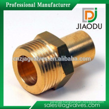 nickel plated hot sale bsp brass fittings water meter connector for pex al pex