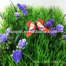 Alfombra caliente barata de la hierba artificial de la venta 2014 con la flor