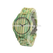 естественный Bamboo цвет Army часы для унисекс