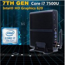 7th Generation Fanless Mini PC Core I5 7200u I3 7100u Intel HD Graphics620 14 Nm Barebone 4k HTPC Desktop Mini Computer