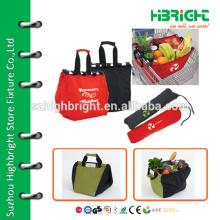 Single handle insulated foldable shopping basket