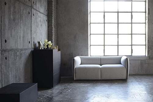 Grey Fabric Double Sofa