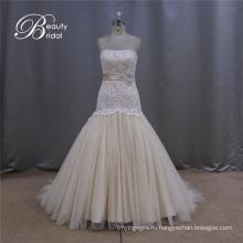 Шампанское кружева свадебное платье Русалка