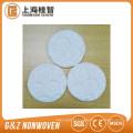 tela não tecida tipo gravado almofada de algodão cosmética de alta qualidade