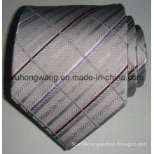 New Men′s Silk Woven Jacquard Stripe Necktie