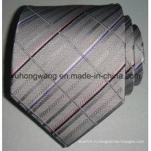 Новый мужской шелковый тканый жаккардовый полосатый галстук