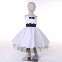 White/Black Designer Flower Girl Dress for Wedding and Ceremonial