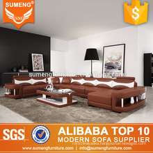 latest design lifestyle living room furniture bright colored italian leather sofa set