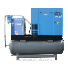 CE certificate 7.5KW compact screw air compressor china supplier