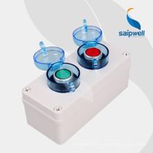 SAIP / SAIPWELL Coffret électrique de contrôle de bouton-poussoir en plastique