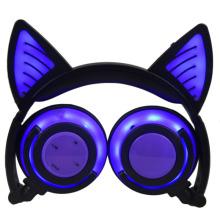 Glowing Cat Bluetooth Wireless Earphone Headphones Over Ear