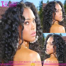 100% человеческих 6А высокое качество хвост парик