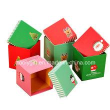 Подгонянные коробки печати рождественской бумаги квадратной бумаги для упаковки Apple