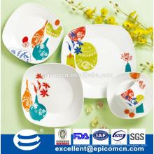 Южноамериканская любимая керамическая посуда 16шт фарфор ужин набор завод оптовой