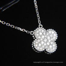 Moda sintética diamante flor forma jóias