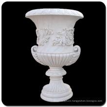 China white marble planter pot VFP-006L