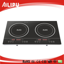CE Certificate with Plastic Housing Low Price Touch Model 2 Burners Induction Cooker