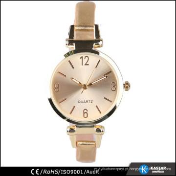 Relógio de couro em couro, pulseira de relogio