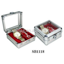 single aluminum watch display box with show window