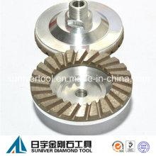 Diamante soldado rodas Turbo Cup para moagem de pedra
