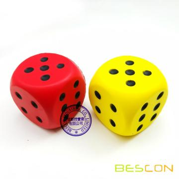 Jumbo Soft Foam Dice 60MM (6CM)
